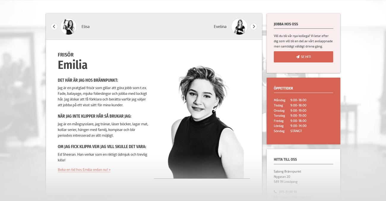 Brännpunkts hemsida